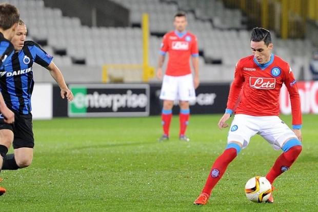 Anche il Napoli due è irresistibile: Chiriches gol a Bruges, Europa record