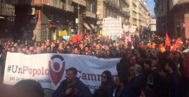 Scuola, sicurezza e lavoro: la marcia anticamorra chiede fatti al governo