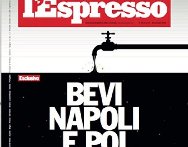 Querela all'Espresso per l'acqua di Napoli, il gip archivia