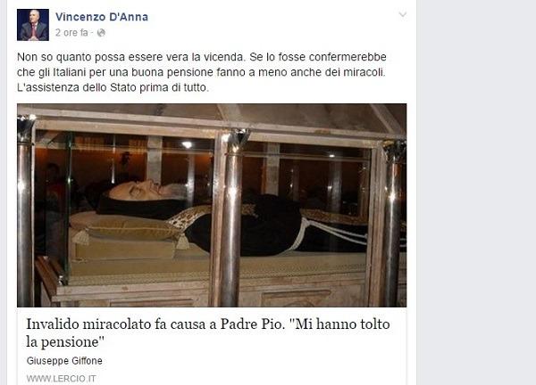 Il verdiniano D'Anna e la figuraccia social: scambia titolo di Lercio per possibile notizia