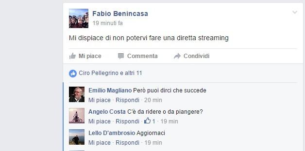 """Ricorso primarie, diretta Fb del bassoliniano durante i lavori: """"Brutta aria, vorrei lo streaming"""""""