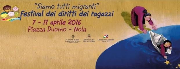 """""""Siamo tutti migranti"""": a Nola il Festival dei diritti dei ragazzi"""
