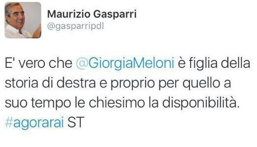 """Gasparri e la maledizione Twitter: """"Chiesimo"""", e lo strafalcione diventa virale"""
