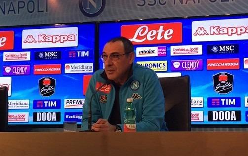 """Sarri striglia tutti: """"Voglio più equilibrio. E pensiamo al Palermo, non ai punti della Juve"""""""