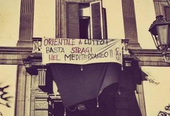 """Napoli, università """"chiusa per lutto"""": attivisti in azione all'Orientale dopo strage di immigrati"""