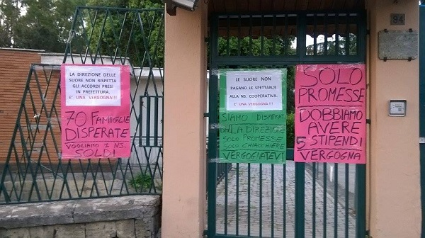 Colli Aminei, torna la protesta della cooperativa San Francesco
