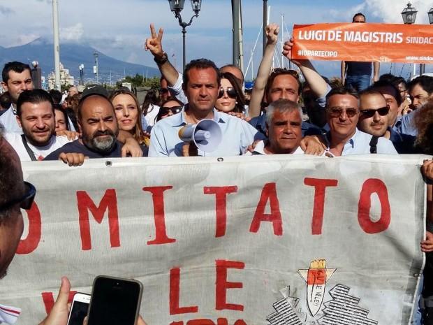 Ballottaggi, a de Magistris l'endorsement dei sindacalisti: anche Libertino e Brancato