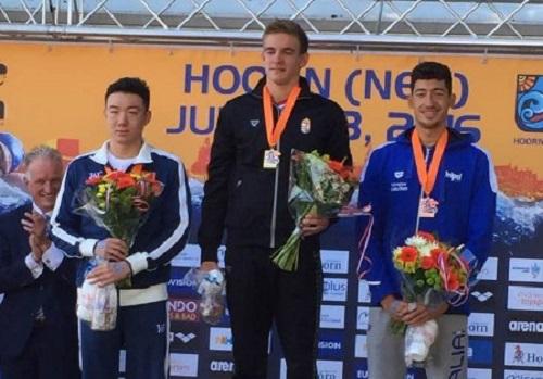Mondiali nuoto juniores, bronzo al napoletano Andrea Manzi nella 10 km