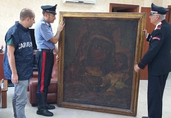 Avellino, ritrovata tela del 1600 rubata 11 anni fa