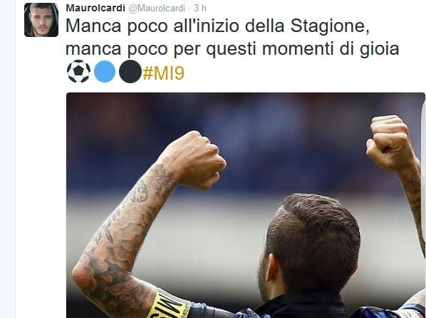 Farsa Icardi ai titoli di coda: Mauro twitta l'ok all'Inter, rabbia Napoli