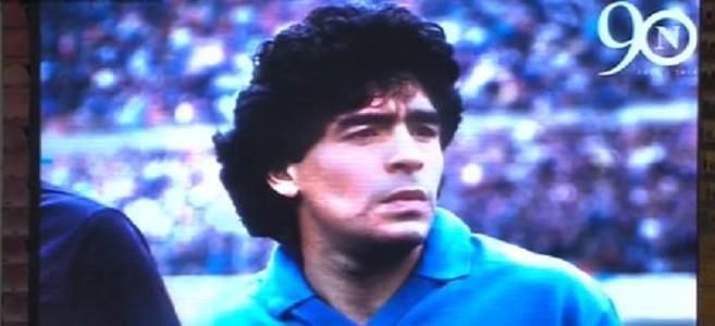 """Festa per i 90 del Napoli, fischi a video di Higuain. Maradona: """"La sua storia finisce, la mia mai"""""""