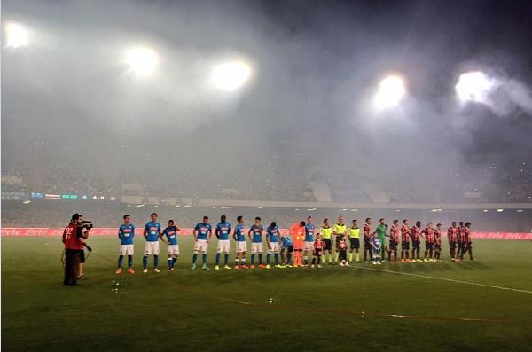 Napoli-Nizza 3-0 al 45′: Koulibaly ne fa due, Mertens arrotonda