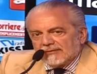 """Napoli, De Laurentiis da Cinepanettone: """"Arbitro, che è 'sta cafonata?"""""""
