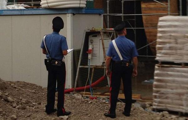 Aquilonia, Avellino:  I carabinieri chiudono cantiere parco eolico, non era in sicurezza