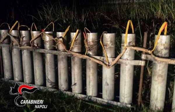 Mugnano, bombe col mortaio per festeggiare neonata del clan: sequestro esplosivi