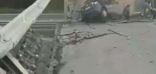 Crolla cavalcavia in Brianza, un morto e 4 feriti: rimpallo di responsabilità Anas-Provincia