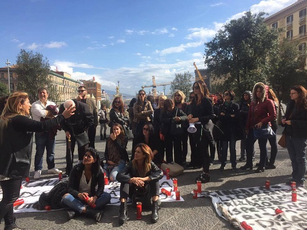 Napoli, prosegue la protesta dei 108 operatori socio assistenziali tagliati