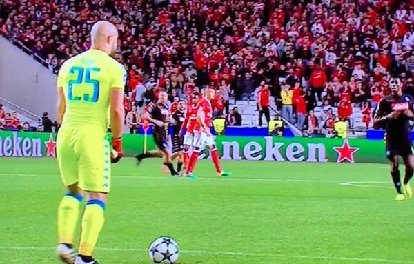 Benfica-Napoli 0-0 al 45′: da Kiev i gol qualificazione per entrambe