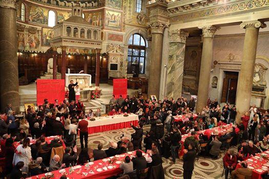 A Roma il pranzo di Natale della comunità di Sant'Egidio, 800 poveri a tavola