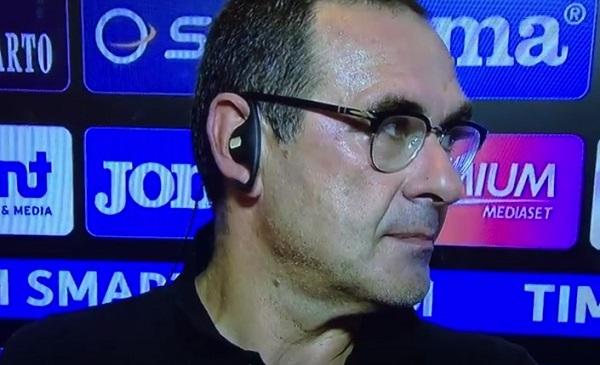 """La rivincita di Sarri: """"Ci chiamano incompiuta, ma nel girone di ritorno siamo pari con la Juve"""""""