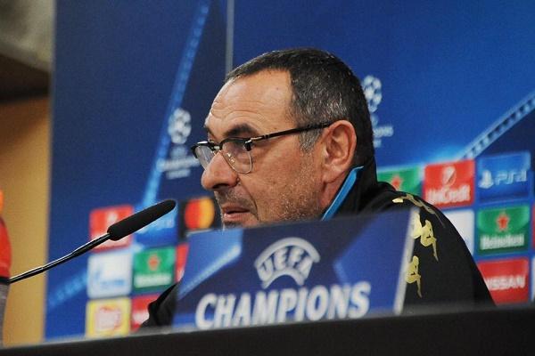 """Benfica-Napoli, Sarri senza calcoli: """"Non giochiamo per il pari, vogliamo il primo posto"""""""