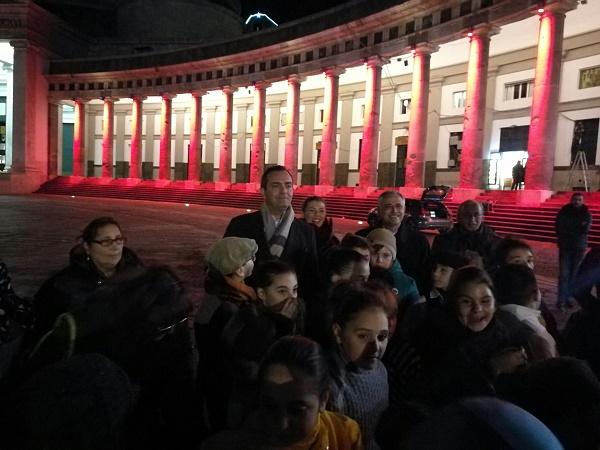 """Napoli, illuminato colonnato di piazza Plebiscito: """"Dedica ad Aleppo"""""""