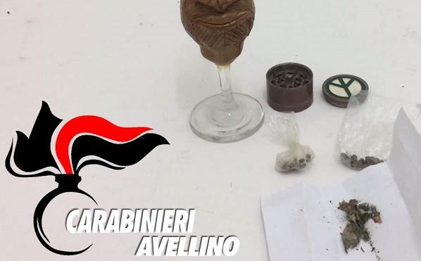 Montefalcione, droga nascosta in un circolo