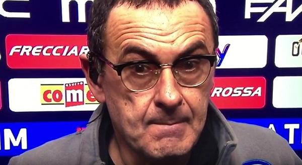 """Il cruccio di Sarri: """"Mai una Juve così in difficoltà, risultato un po' amaro"""""""