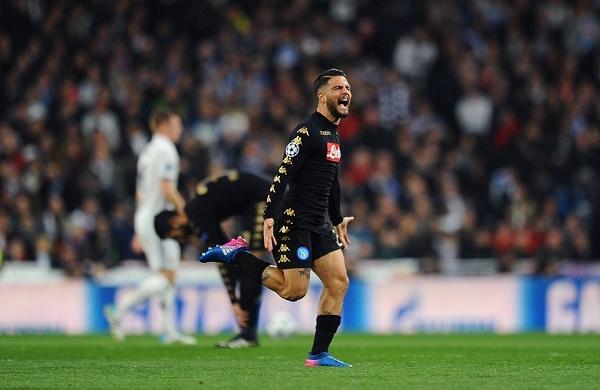 Real Madrid-Napoli 1-1 al 45′: gol pazzesco di Insigne, ma Benzema riacciuffa