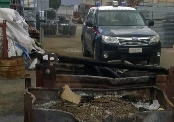 Nusco, bruciavano rifiuti: due denunciati