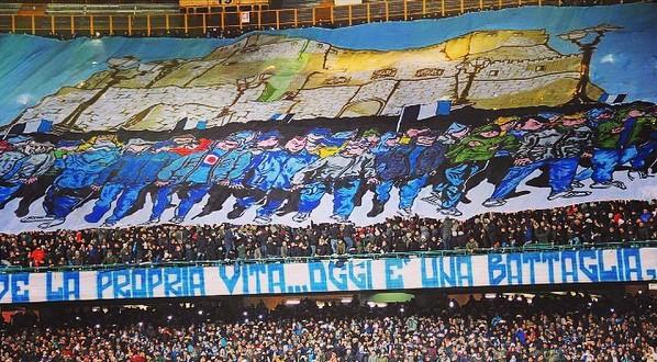 Napoli-Real Madrid sugli spalti, le curve vincono la loro partita