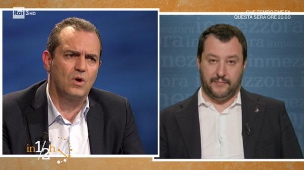"""De Magistris-Salvini, scintille dalla Annunziata. """"Non sei il nuovo"""". """"Poveretto"""""""