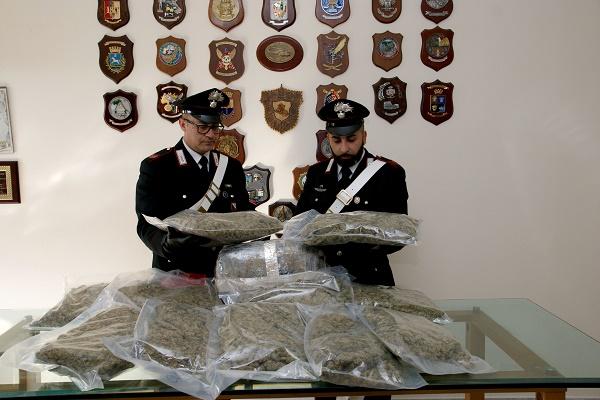 Qualiano, 17 kg di marijuana sotto il letto: arrestata 45enne