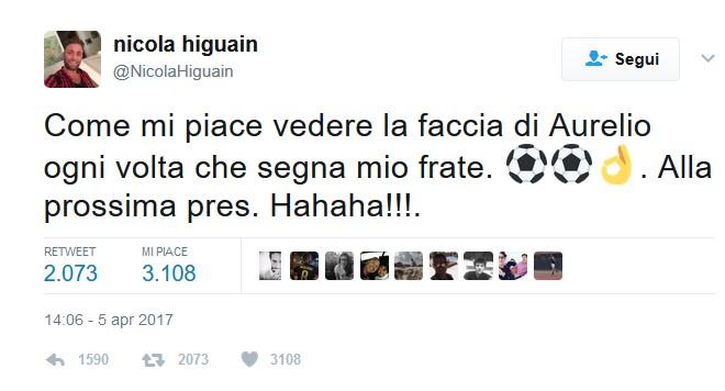 """Higuain, il fratello-agente attacca De Laurentiis con tweet al veleno: """"Quanto godo"""""""