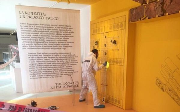 Scavi di Pompei, rubato fregio di una porta del VI secolo A.C.