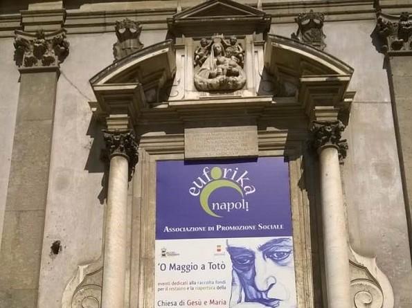 Napoli, visite e spettacoli per il restauro della chiesa di Gesù e Maria