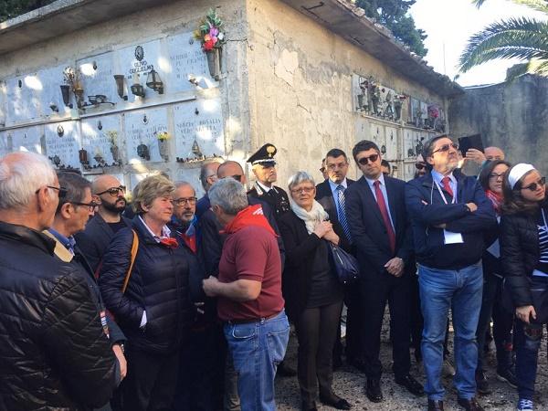 Festa del lavoro, i leader sindacali a Portella della Ginestra