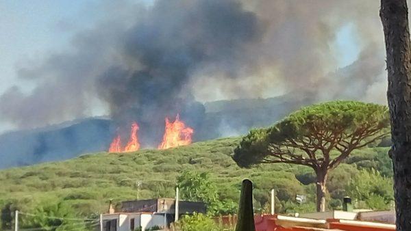 Vesuvio assediato dai piromani, fronte di incendi lungo 2 km