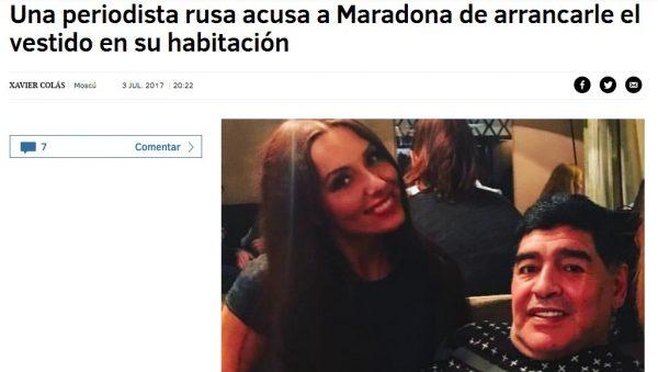 Maradona accusato di molestie da una giornalista, ma lui smentisce