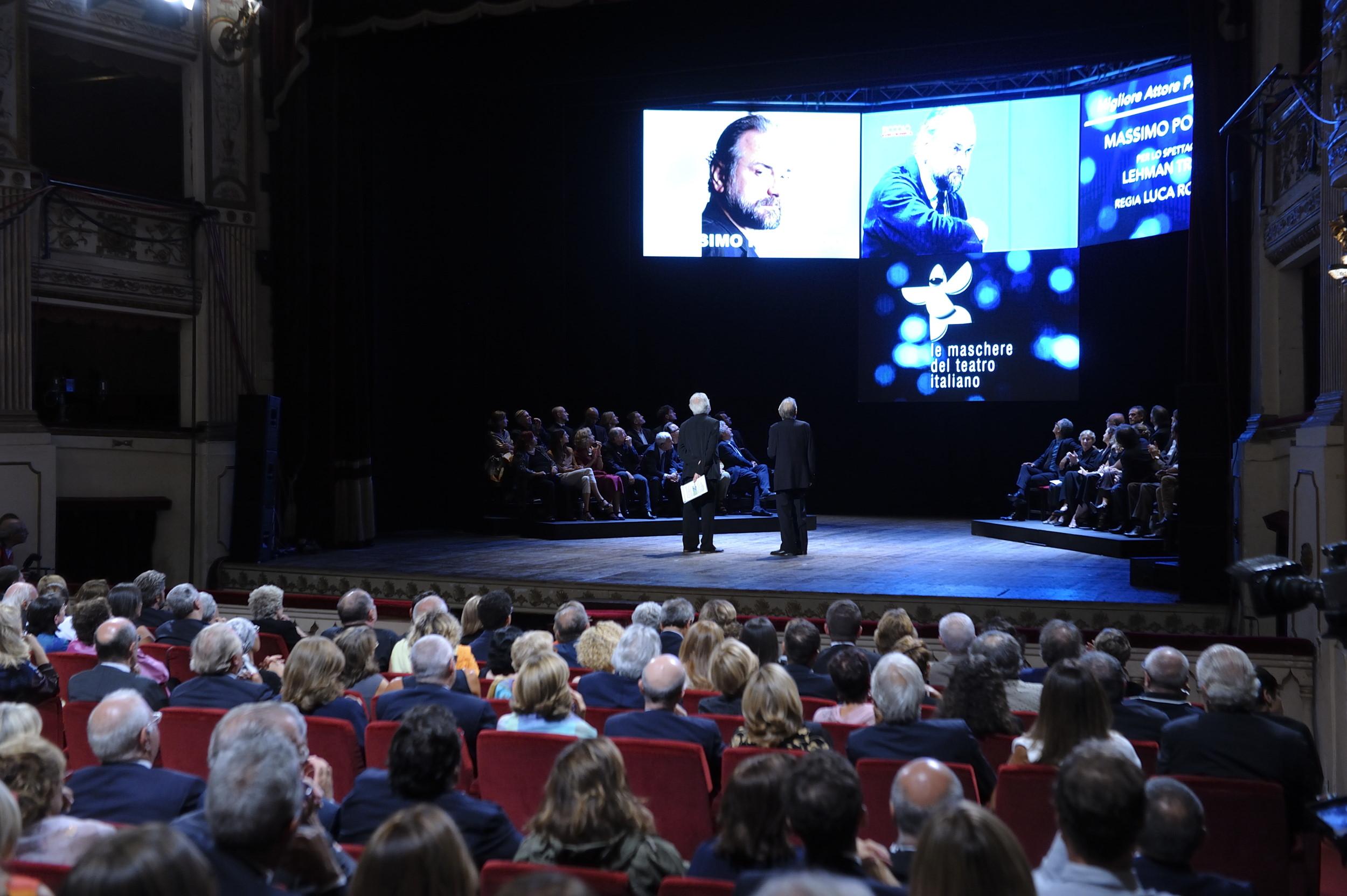 Napoli, Teatro Mercadante, i vincitori del Premio le Maschere