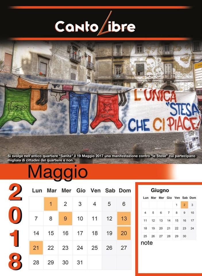 "Cantolibre presenta il calendario ""ribelle"""