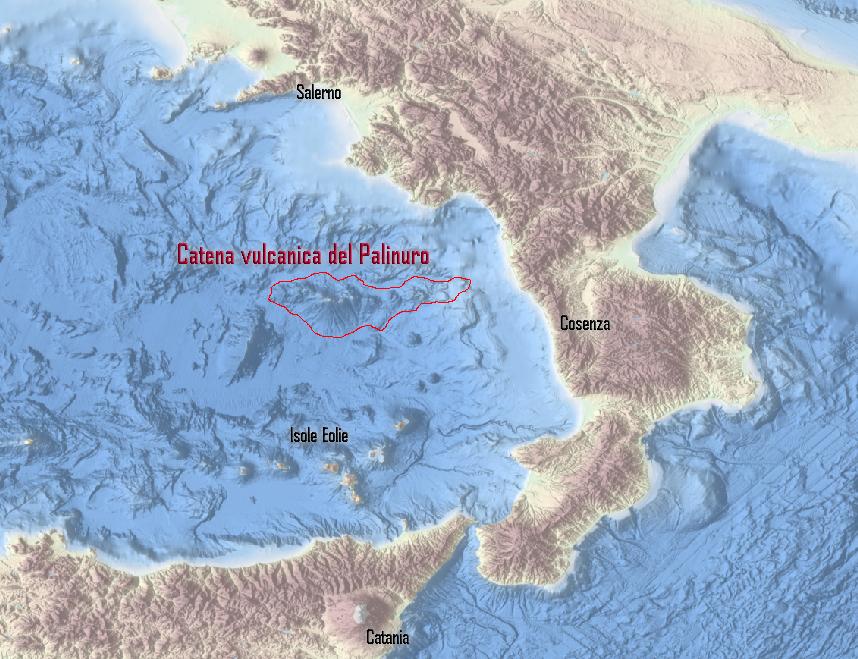 Scoperta una famiglia di 7 nuovi vulcani nel mar Tirreno