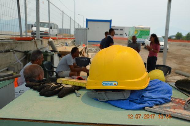 Il caldo è un pericolo per i lavoratori impegnati nei cantieri edili