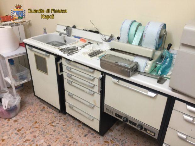Portici, sequestrato falso laboratorio dentistico