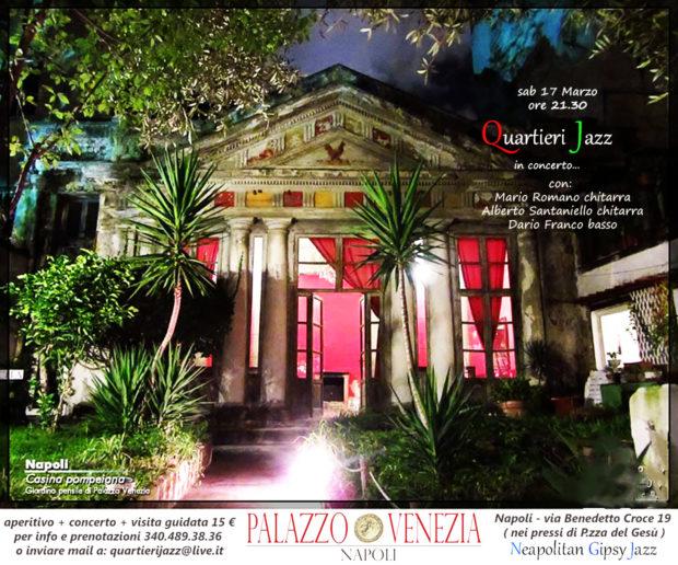 Napoli, Centro Storico: Quartieri Jazz in concerto a Palazzo Venezia