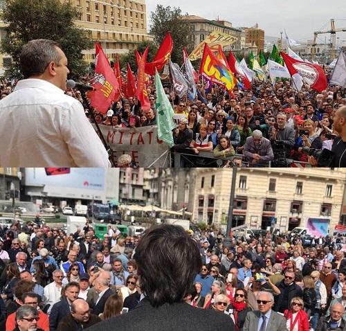 Napoli, vince la piazza di de Magistris: ma la città è assente