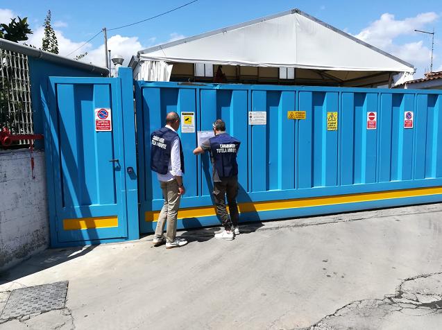 Nocera Inferiore: blitz dei Carabinieri, sigilli a impianto di trattamento rifiuti speciali