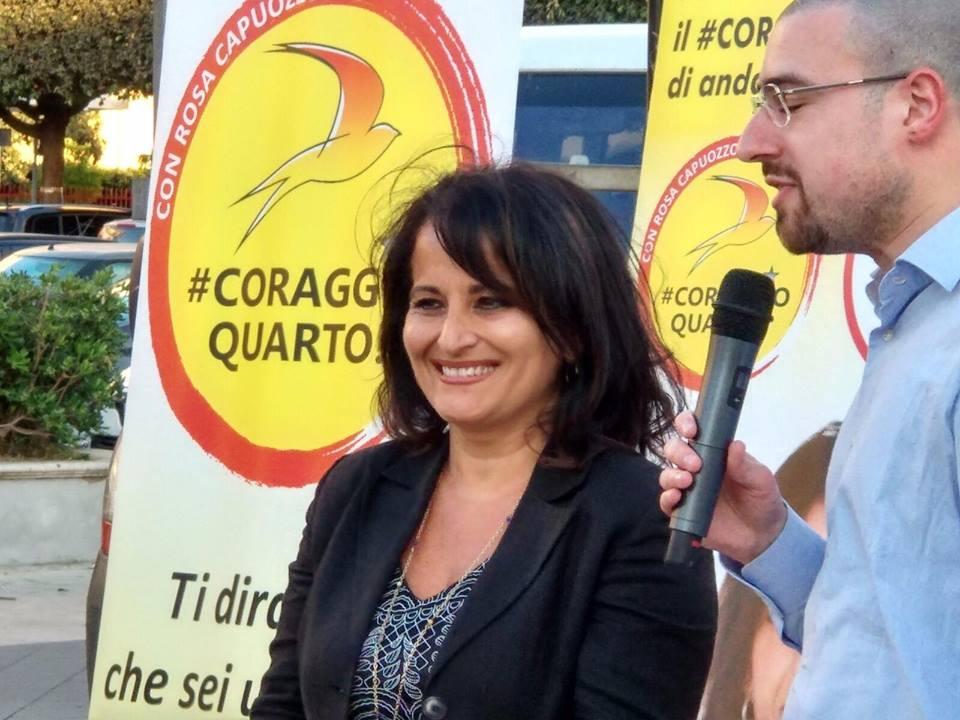 Quarto Flegreo: applausi, entusiasmo per Rosa Capuozzo, candidata sindaca