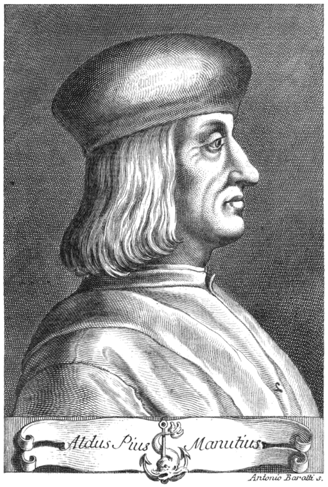 Aldo Manuzio, primo editore