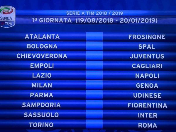Seria A, il Napoli inizia col botto: sfida in casa della Lazio